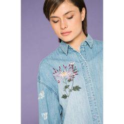 Only - Koszula Flora. Szare koszule jeansowe damskie marki ONLY, s, casualowe, z okrągłym kołnierzem. W wyprzedaży za 119,90 zł.