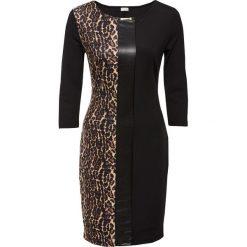 Sukienka leo bonprix czarno-beżowo-brązowy leo. Czarne sukienki balowe marki bonprix, ze skóry. Za 129,99 zł.