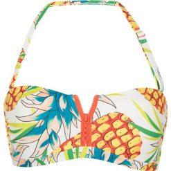"Biustonosze bardotka: Biustonosz bikini ""Pineapple"" ze wzorem"