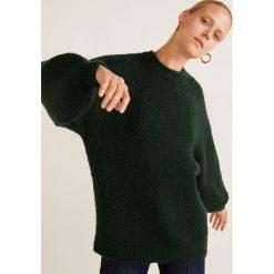 Mango - Sweter Saudade. Szare swetry klasyczne damskie marki Mango, l, z dzianiny, z okrągłym kołnierzem. Za 139,90 zł.