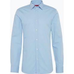 HUGO - Koszula męska łatwa w prasowaniu - Elisha01, niebieski. Niebieskie koszule męskie non-iron marki HUGO, m, z bawełny. Za 329,95 zł.