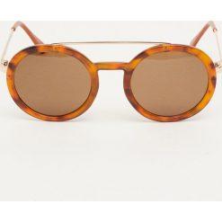 Okulary przeciwsłoneczne damskie aviatory: Rogowe okulary przeciwsłoneczne