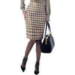 Spódniczki: Spódnica w kolorze złotym ze wzorem