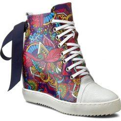 Sneakersy R.POLAŃSKI - 834 Biały City. Czarne sneakersy damskie marki R.Polański, ze skóry, na obcasie. W wyprzedaży za 299,00 zł.