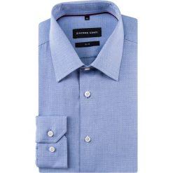 Koszula SIMONE slim KDWS000309. Białe koszule męskie na spinki Giacomo Conti, m, w geometryczne wzory, z bawełny, z klasycznym kołnierzykiem, z długim rękawem. Za 199,00 zł.