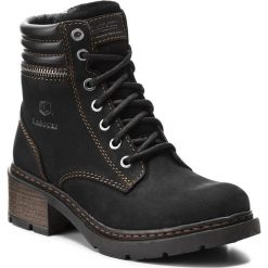 Botki LASOCKI - WI20-HARVARD-02 Czarny. Czarne buty zimowe damskie Lasocki, z nubiku. Za 199,99 zł.