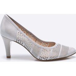 Caprice - Czółenka. Szare buty ślubne damskie Caprice, na szpilce. W wyprzedaży za 219,90 zł.