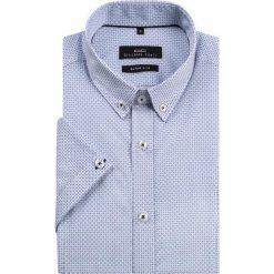 Koszula MICHELE KKBE000001. Niebieskie koszule męskie na spinki Giacomo Conti, na lato, m, z bawełny, z krótkim rękawem. Za 199,00 zł.