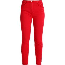 Boyfriendy damskie: Cortefiel SLIM FIT TROUSERS WITH BUTTONS IN HEM Jeansy Slim Fit red