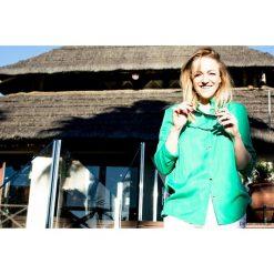 Koszula damska Colleto Green. Zielone koszule damskie Pakamera, ze stójką. Za 206,00 zł.