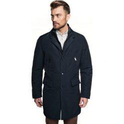Płaszcz granton granatowy. Brązowe płaszcze męskie marki Cropp, na zimę, l, sportowe. Za 599,00 zł.