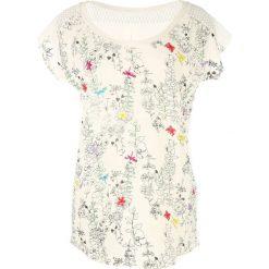 T-shirty damskie: T-shirt z okrągłym dekoltem i krótkim rękawem w kwiaty