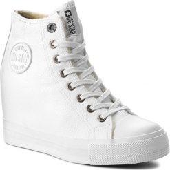 Sneakersy BIG STAR - BB274304 White. Białe sneakersy damskie BIG STAR, z gumy. Za 129,00 zł.