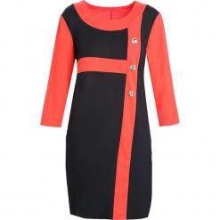 Czerwono-Czarna Sukienka Since You're Gone. Czarne sukienki Born2be, na jesień, xl, midi, oversize. Za 24,99 zł.