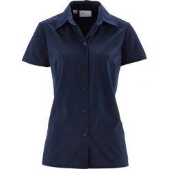 Bluzka z krótkim rękawem bonprix ciemnoniebieski. Niebieskie bluzki z odkrytymi ramionami bonprix, z krótkim rękawem. Za 44,99 zł.