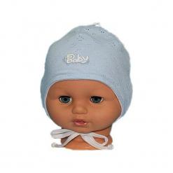 Niemowlęca czapka bawełniana W-50. Szare czapeczki niemowlęce Proman, z bawełny. Za 22,04 zł.