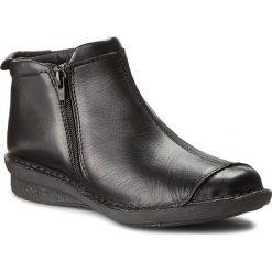 Botki AEROS - AEJ-16-171B Nero. Czarne buty zimowe damskie Aeros, z materiału. W wyprzedaży za 179,00 zł.