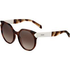 Prada Okulary przeciwsłoneczne dark brown. Brązowe okulary przeciwsłoneczne damskie lenonki marki Prada. Za 959,00 zł.