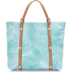 Torebka damska 86-4E-009-N. Niebieskie torebki klasyczne damskie Wittchen, w paski, duże, zdobione. Za 439,00 zł.