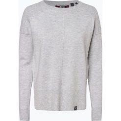 Superdry - Sweter damski z dodatkiem kaszmiru, szary. Szare swetry klasyczne damskie marki Superdry, l, z nadrukiem, z bawełny, z okrągłym kołnierzem. Za 299,95 zł.