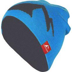 """Czapki męskie: Dwustronna czapka beanie """"Westfjord"""" w kolorze niebiesko-antracytowym"""