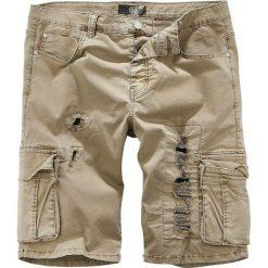 RED by EMP Army Vintage Shorts Krótkie spodenki beżowy. Brązowe spodenki i szorty męskie RED by EMP, z aplikacjami, vintage. Za 62,90 zł.