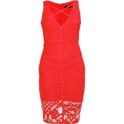 Sukienki: Missguided CROSS FRONT PANELLED MIDI  Sukienka koktajlowa red