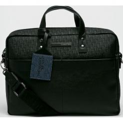 Trussardi Jeans - Torba. Czarne torby na laptopa marki Trussardi Jeans, w paski, z jeansu. Za 639,90 zł.