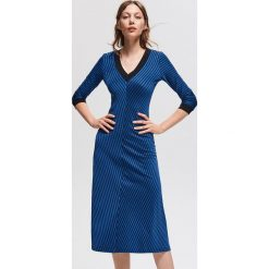 Dzianinowa sukienka - Niebieski. Niebieskie sukienki dzianinowe marki Reserved, l. Za 119,99 zł.
