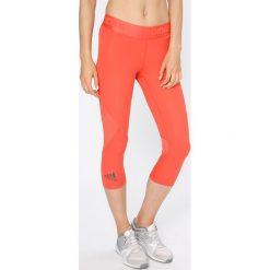 Adidas Performance - Legginsy. Czerwone legginsy marki adidas Performance, m. W wyprzedaży za 129,90 zł.