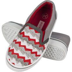 Soxo - Tenisówki dziecięce. Szare buty sportowe dziewczęce marki Soxo, z gumy, z okrągłym noskiem. Za 49,99 zł.