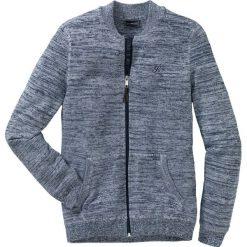 Sweter rozpinany Regular Fit bonprix ciemnoniebiesko-biały melanż. Niebieskie kardigany męskie bonprix, l, z haftami. Za 79,99 zł.