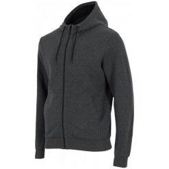 Bluzy męskie: 4F Męska Bluza H4Z17 blm002 Ciemny Szary Melanż S