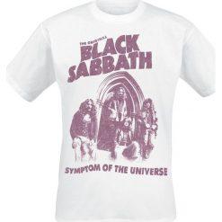 Black Sabbath Symptom Of The Universe T-Shirt biały. Białe t-shirty męskie z nadrukiem marki Black Sabbath, m, z okrągłym kołnierzem. Za 62,90 zł.