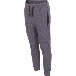 Spodnie chłopięce: Spodnie dresowe dla małych chłopców JSPMD102 – GRANAT MELANŻ