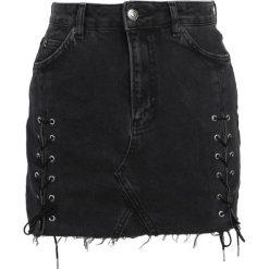 Minispódniczki: Topshop Spódnica jeansowa washedblack