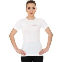 Bluzki sportowe damskie: Brubeck Koszulka damska 3D Run PRO z krótkim rękawem biała r. XL (SS12030)