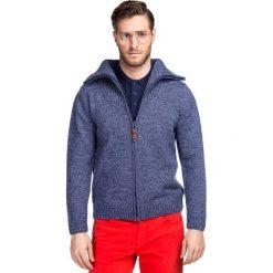 Sweter AMEDEO SWG000083. Czerwone swetry rozpinane męskie Giacomo Conti, na jesień, m, z wełny, polo. Za 299,00 zł.