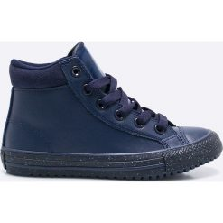 Converse - Trampki dziecięce Chuck Taylor All Star. Szare buty sportowe chłopięce Converse, z gumy, na sznurówki. W wyprzedaży za 179,90 zł.