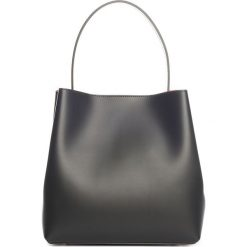 Torebki klasyczne damskie: Skórzana torebka w kolorze czarnym – 50 x 35 x 12 cm