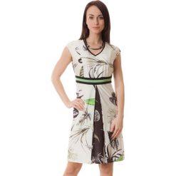 Sukienki hiszpanki: Sukienka w kolorze kremowo-zielonym