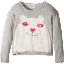 Sweter dzianinowy bonprix jasnoszary melanż. Szare swetry dziewczęce marki bonprix, z dzianiny. Za 32,99 zł.