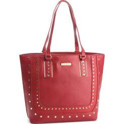 Torebka MONNARI - BAG4870-005 Red. Brązowe torebki klasyczne damskie marki Monnari, w paski, z materiału, średnie. W wyprzedaży za 199,00 zł.