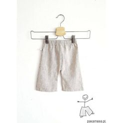 Spodnie niemowlęce: LEN szerokie spodnie – KULOTY 7/8