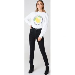 Rut&Circle Bluza Lemon - White. Białe bluzy z nadrukiem damskie Rut&Circle, z długim rękawem, długie. Za 121,95 zł.