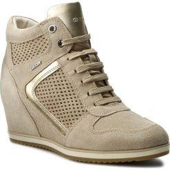 Sneakersy GEOX - D Illusion B D7254B 022AJ CH62L Lt Taupe/Lt Gold. Brązowe sneakersy damskie marki Geox, ze skóry. W wyprzedaży za 379,00 zł.