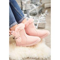 Buty zimowe damskie: Różowe Śniegowce Closing Time