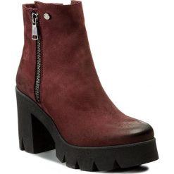 Botki EVA MINGE - Paloma 2C 17SM1372211EF 434. Czerwone buty zimowe damskie Eva Minge, z nubiku. W wyprzedaży za 249,00 zł.