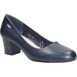 Granatowe czółenka na niskim obcasie Sergio Leone 12540. Czarne buty ślubne damskie marki Sergio Leone. Za 88,99 zł.