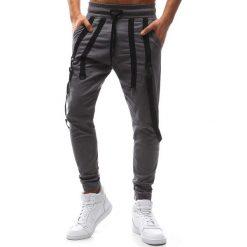 Joggery męskie: Spodnie męskie joggery szare (ux1133)